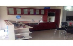 L Shaped Modular Kitchen by Kitchen Interio Town LLP