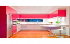 U Shape Modular Kitchen by S L Interior LLP.
