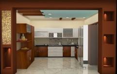Wooden Modular Kitchen by Bryank Interiror & Architects