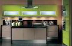 Laminated Modular Kitchen by Tiger Wood Interiors