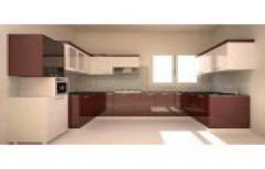 U Shaped Modular Kitchen by Infinity Enterprises