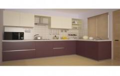 L Shaped Modular Kitchen by Hemant Interiors (A Unit Of Hemant UPVC Doors & Windows)