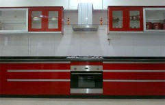I-Shaped Modular Kitchen by Pioneer Decorator