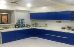L Shape Modular Kitchen by Shree Nathji Steel Arts