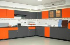 L Shaped Modular Kitchen by Raaghavi Associates