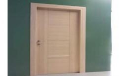 Hinged Brown Wooden Door