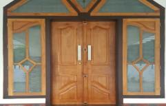 Wooden Double  Door     by Classy  Doors & Windows