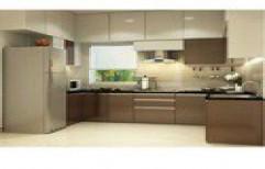 L Shape Modular Kitchen by Sasi Modular Interiors