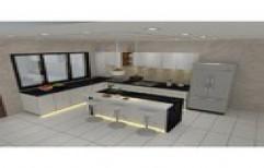 Plywood Laminate Modular Kitchen, Drawer Basket,Drawer Slide,Handle & Knob, Warranty: 1-5 Years
