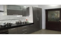 Stainless Steel Modular Kitchen by Globus Infratech