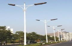Double Armed Solar Street Light Pole by Shivaa Engineering Works
