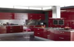 L Shape Modular Kitchen by Crystal Enterprises