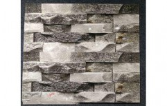 Grey Wall Cladding by Dhanush Ceramics