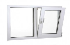 White Modern UPVC Bottom Hung Window, Size/Dimension: 2 X 2.5 Feet, Glass Thickness: 5 Mm