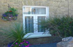 Hinged UPVC French Window, Glass Thickness: 3 - 5 Mm