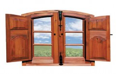 Brown Standard Wooden Window, Size/dimension: 4*4 Feet