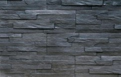 Black Slate Wall Stone Cladding by Gala Stone World