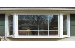 White UPVC Bay Window, 5 to 40mm