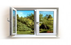 Hinged UPVC Glass Window, Thickness Of Glass: 6-10 Mm