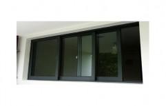 Black,Brown UPVC Glass Sliding Window, for Commercial