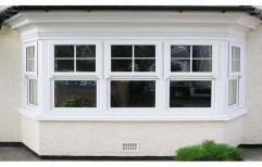 White UPVC Bay Window  by Green Windows
