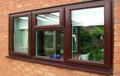 Wooden Finished UPVC Window by Sherin Hifab Contracts India Private Limited