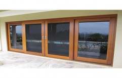 Wooden Sliding Window      by Sony UPVC System
