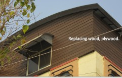 Brown WPC Wall Cladding, For Apartment Exteriors, Thickness: 10-15 mm
