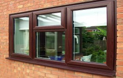 Brown UPVC Window by Jai Gurudev Glass & Aluminium Works