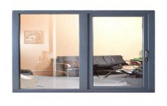 Modern Coated Stainless Steel Sliding Window, For Home