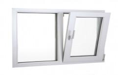 White 3 Feet UPVC Tilt Turn Window