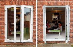 Glemtech White UPVC French Window, Thickness Of Glass: 5 - 10 Mm