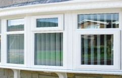 kommerling Residential UPVC Window, Size/Dimension: Custom Made, Thickness Of Glass: 3 Mm