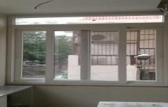 White Residential UPVC Sliding Windows, Glass Thickness: 6-24