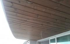 Light Brown Wooden Wall Cladding