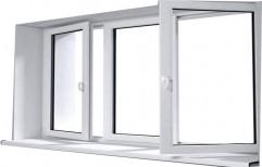 White Glossy UPVC Hinged Window