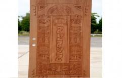 Hand Carved Wood Door by C.P. Doors & Wood Craft