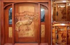 Carved Wood Doors by Agarwal Plywood Traders