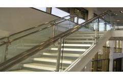 Handrail Glass Fabrication Work by Megha Marketing