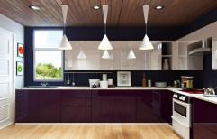 Acrylic L Shape Modular Kitchen by Kanpra Ereganto