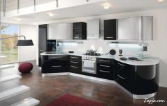 PVC Straight Italian Modular Kitchen, Warranty: 5-10 Years