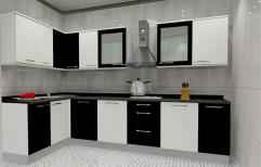 L Shaped Modular Kitchen by Balaji Enterprises