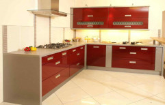 L Shaped Modular Kitchen by Raya Decors