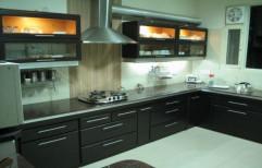 L Shaped Modular Kitchen by Rethin Interior Decorator