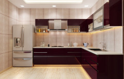 L Shaped Modular Kitchen by Sri Laxmi Interiors