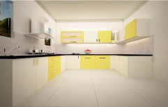 U Shape Modular Kitchen by Bhramaramba Mallikarjuna Timber & Works