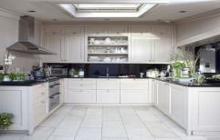 U Shape Modular Kitchen by Srushti Interiors