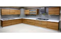 Wooden Modular Kitchen by Stratum Design