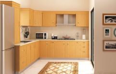 L Shaped Modular Kitchen by Bryank Interiror & Architects