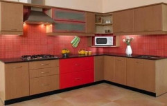 Sleek Designer Kitchen by V. K. Sharma & Co.